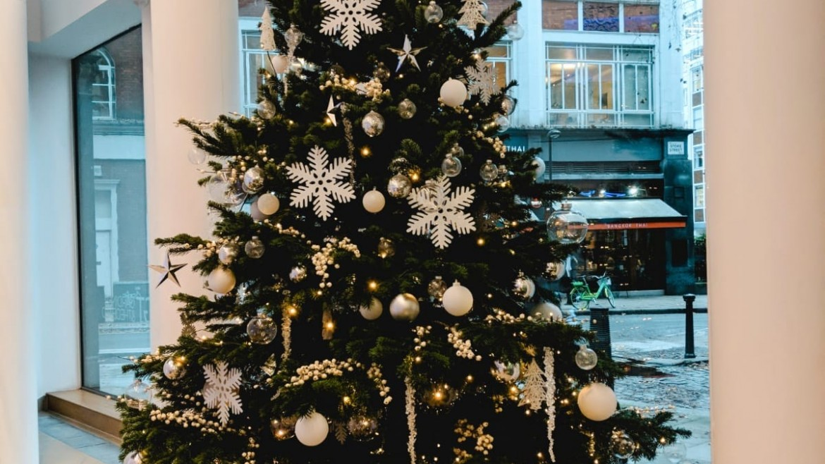 Decorated Christmas Tree Hire London & the South